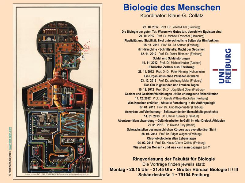 """Ringvorlesung """"Biologie des Menschen"""" 2012/2013"""